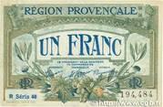 1 franc - Région provençale – avers