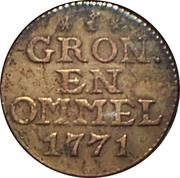 1 duit (Groningen et Ommeland) – revers