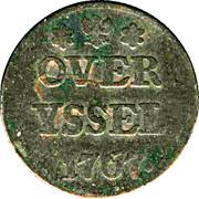 1 duit (Overijssel) – revers