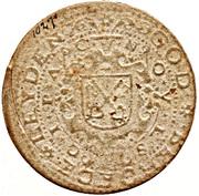 1 Gulden - Siege of Leiden – revers