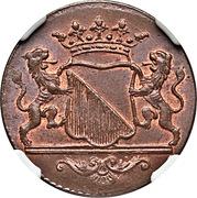 1 duit (ville d'Utrecht) – avers