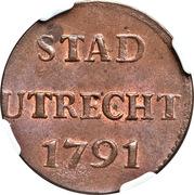 1 duit (ville d'Utrecht) – revers