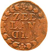 1 duit (Zeeland) – revers