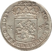 10 Stuivers / ½ Gulden (Holland) – avers