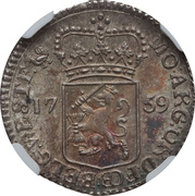 ¼ Gulden / 5 Stuivers (West Frisia) – avers