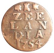 1 duit (Zeelandia) – revers