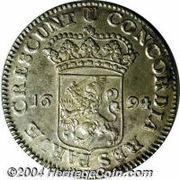 1 Silver Ducaton HOLLAND – revers