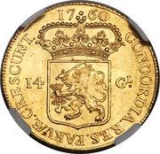 14 Gulden (Gelderland) – revers