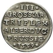 3 gröscher - Albert de Brandebourg – revers