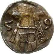 1 pfennig - Albert de Brandebourg – avers