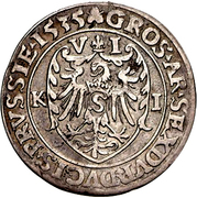 6 gröscher - Albert de Brandebourg – revers