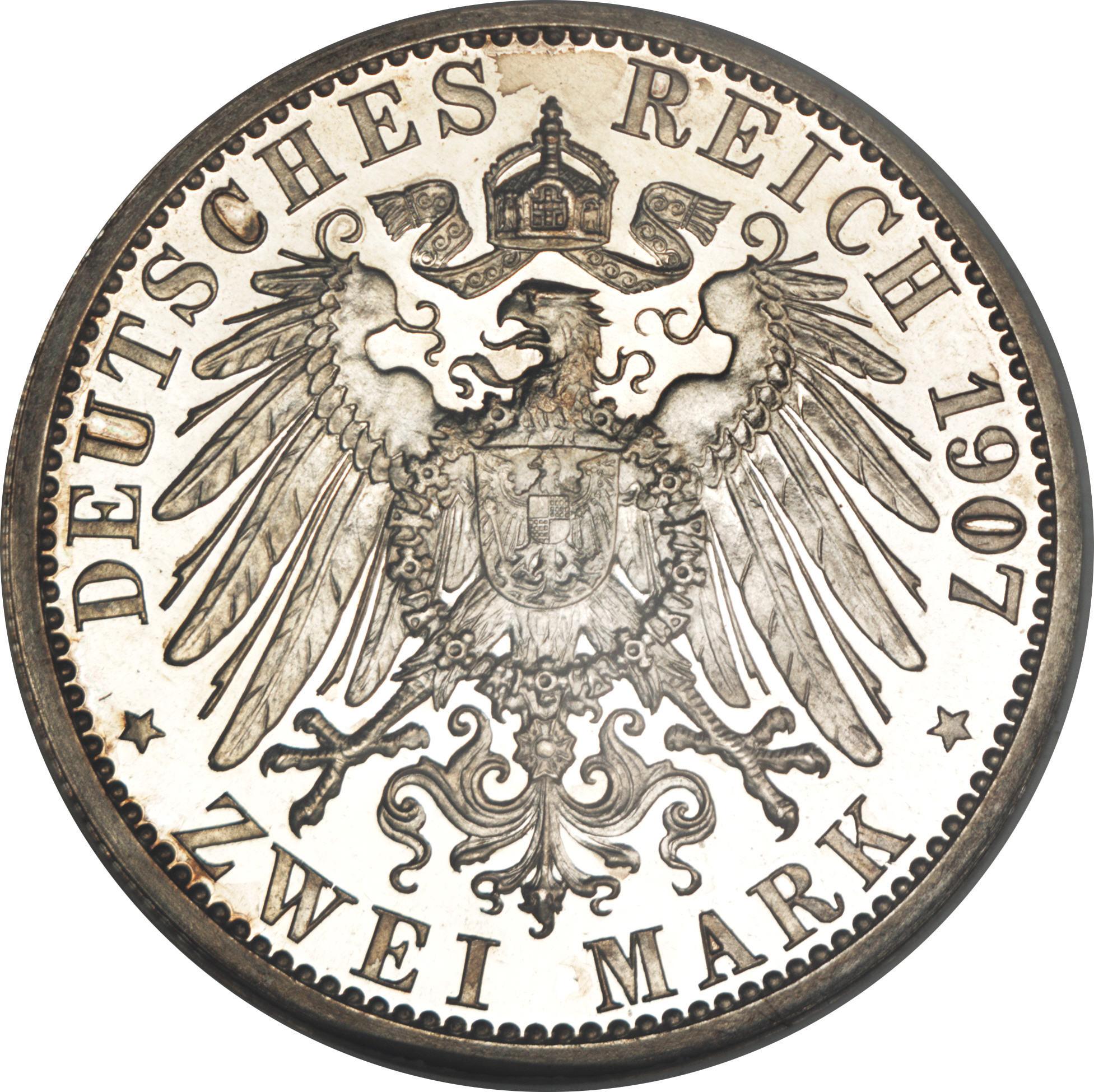 2 Mark Wilhelm Ii Royaume De Prusse Numista