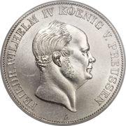 2 vereinsthaler - Friedrich Wilhelm IV – avers