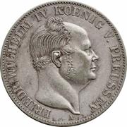 1 thaler - Friedrich Wilhelm IV – avers