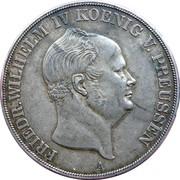 2 thaler / 3½ gulden - Friedrich Wilhelm IV – avers