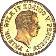 1 Friedrich d'or - Friedrich Wilhelm IV – avers