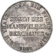 "2 vereinsthaler - Wilhelm ""Mining Thaler"" – revers"