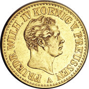 2 Friedrich d'or - Friedrich Wilhelm IV – avers