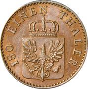 2 pfenninge - Wilhelm I -  avers