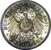 2 Mark - Wilhelm II (Royaume de Prusse) – revers