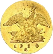 ½ Friedrich d'or - Friedrich Wilhelm III – revers
