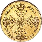 ½ Wilhelm d'or - Friedrich Wilhelm I – revers