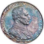 2 Mark - Wilhelm II (règne) – avers