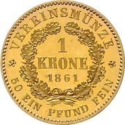 1 Krone - Wilhelm I – revers