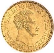 2 Friedrich d'or - Friedrich Wilhelm III – avers