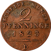 2 pfenninge - Friedrich Wilhelm III -  avers