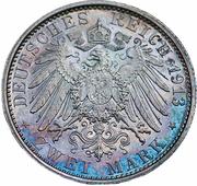 2 Mark - Wilhelm II (règne) – revers