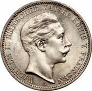 3 Mark - Wilhelm II – avers