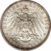 3 Mark - Wilhelm II -  revers