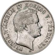 "1 thaler - Friedrich Wilhelm IV ""Mining Thaler"" – avers"