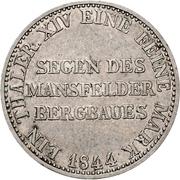 "1 thaler - Friedrich Wilhelm IV ""Mining Thaler"" – revers"
