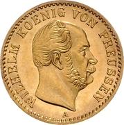 ½ Krone - Wilhelm I – avers