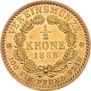 ½ Krone - Wilhelm I – revers
