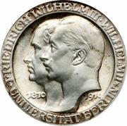3 Mark - Wilhelm II (Université de Berlin) – avers