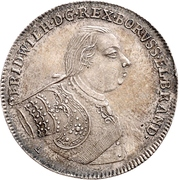 ½ thaler - Friedrich Wilhelm I – avers