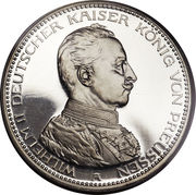 5 Mark - Wilhelm II – avers