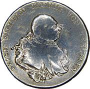 1 reichsthaler - Friedrich Wilhelm II – avers