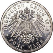 5 Mark - Wilhelm II – revers