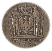 1 thaler - Friedrich Wilhelm III – revers