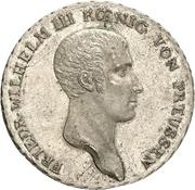 1 thaler - Friedrich Wilhelm III (Visite de l'atelier de Berlin) – avers