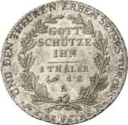 1 thaler - Friedrich Wilhelm III (Visite de l'atelier de Berlin) – revers