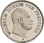 ⅙ thaler - Wilhelm I – avers