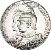 5 Mark - Wilhelm II (Royaume de Prusse) – avers