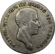 ⅙ reichsthaler - Friedrich Wilhelm III – avers