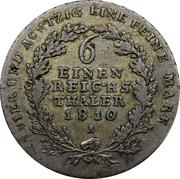 ⅙ reichsthaler - Friedrich Wilhelm III – revers