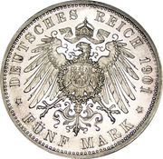5 Mark - Wilhelm II (Royaume de Prusse) – revers